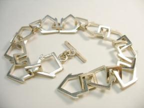 Village - Bracelet, silver, cast